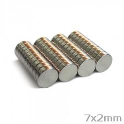 Неодимовый магнит 7x2 мм N38 - 40 шт.