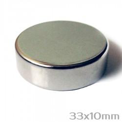 Неодимовый магнит 33x10 мм N42