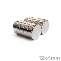 Неодимовый магнит 12x4 мм N38 - 10 шт.