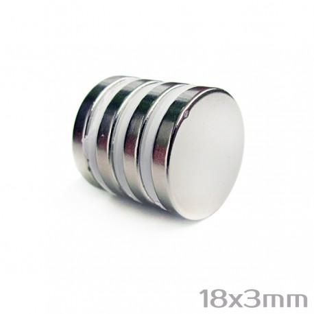 Неодимовый магнит 18x4 мм N38 - 5 шт.