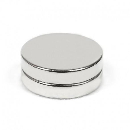 Неодимовый магнит 25x5мм N42 - 2 шт.