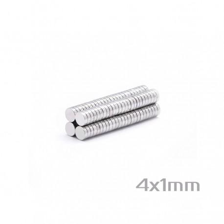 Неодимовый магнит 4x1 мм N35 - 200 шт.