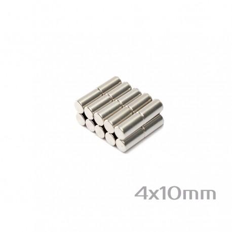 Neodīma magnēts 4x10 mm N38 - 20 gb.