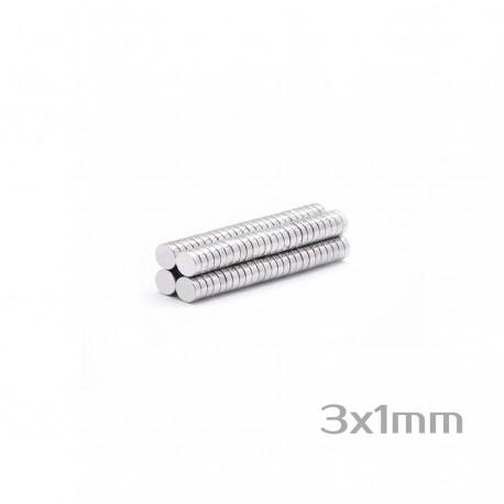 Neodīma magnēts 3x1 mm N35 - 200 gb.