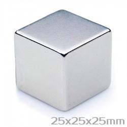 Неодимовый магнит 25x25x25 мм N52