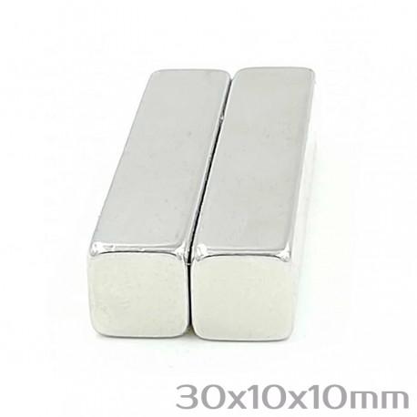 Неодимовый магнит 30x10x10 мм N35 - 2 шт.
