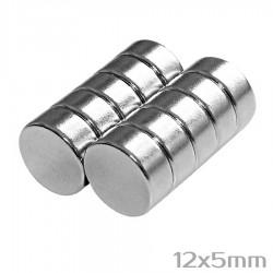 Neodīma magnēts 12x5mm N35 - 10 gb.
