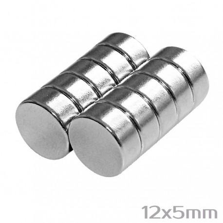 Неодимовый магнит 12x5 мм N35 - 10 шт.