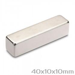 Неодимовый магнит 40x10x10 мм N35 - 1 шт.