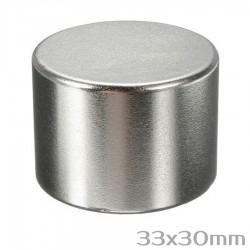 Неодимовый магнит 33x30 мм N42