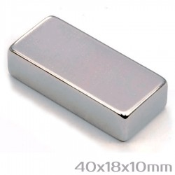 Неодимовый магнит 40x18x10 мм N45