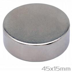 Неодимовый магнит 45x15 мм N38