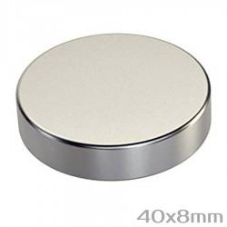 Неодимовый магнит 40x8 мм N42