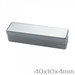 Неодимовый магнит 40x10x4 мм N38 - 2 шт.