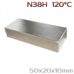 Неодимовый магнит 50x20x10 мм N38H