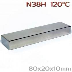 Неодимовый магнит 80x20x10 мм N38H