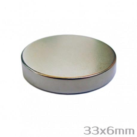 Неодимовый магнит 33x6 мм N38