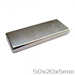 Неодимовый магнит 50x20x5 мм N38