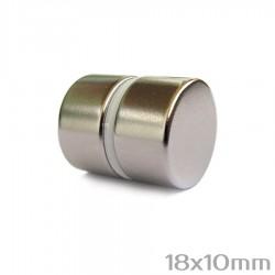 Неодимовый магнит 18x10 мм N38 - 2 шт.