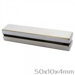 Неодимовый магнит 50x10x4 мм N35 - 2 шт.